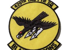 429th Tactical Fighter Squadron Black Falcons Patch - Sew On