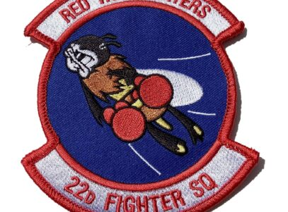 4 inch 22D FIGHTER SQUADRON RED HOT FIGHTERS Patch- Sew On