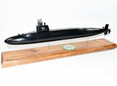 USS Mariano G. Vallejo SSBN-658 Submarine Model (Black Hull)