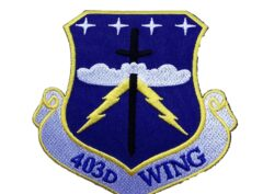 403rd Wing Patch – Plastic Backing