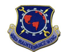 402nd Maintenance Wing Patch – Plastic Backing