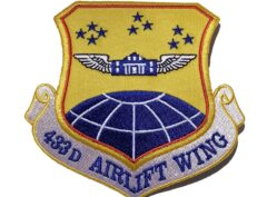 433rd Airlift Wing Patch – Plastic Backing