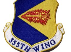 355th Fighter Wing Patch – Plastic Backing
