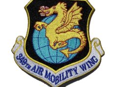 349th Air Mobility Wing Patch – Plastic Backing