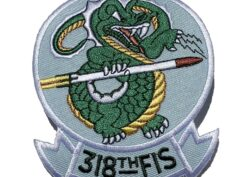 318th Fighter Interceptor Squadron Patch – Plastic Backing