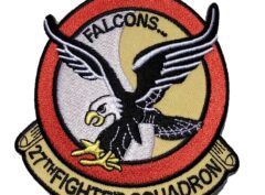 Falcon 27th Fighter Squadron Patch – Plastic Backing