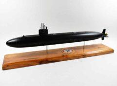 USS La Jolla SSN-701 Flt I Black Hull Submarine Model
