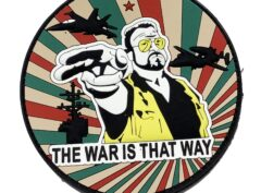 USS Dwight D Eisenhower War is that Way PVC Patch – Hook and Loop