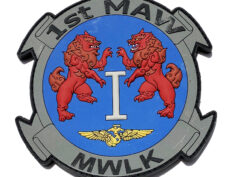 1st Marine Air Wing PVC Patch – Hook and Loop