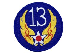 13th Air Force Patch – Hook and Loop