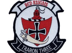 VT-3 Red Knights Patch – With Hook and Loop