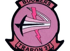 VT-27 Boomers Cancer Awareness Patch – Hook and Loop