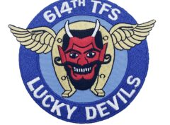 614th Tactical Fighter Squadron Lucky Devils 1943 Patch