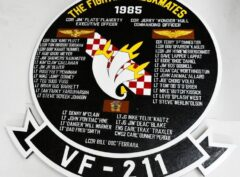 VF-211 Fighting Checkmates 1985 Deployment Plaque