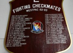 VF-211 Fighting Checkmates West Pac 82-83 Plaque