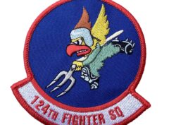"""124TH FIGHTER SQ """"Hawkeyes"""" Patch - Sew On"""