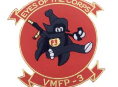 VMFP-3 Eyes of the Corps Patch- Plastic Backing