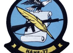 Marine Corps H&HS 37 Patch - No Hook and Loop