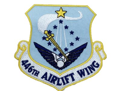 446th Airlift Wing Squadron Patch – Plastic Backing