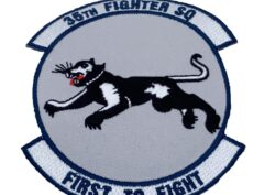 76th Fighter Squadron Patch – Plastic Backing