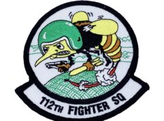112th Fighter Squadron Patch – Plastic Backing