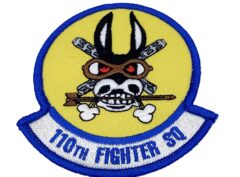 110th Fighter Squadron Patch – Plastic Backing