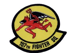 107th Fighter Squadron Patch – Plastic Backing