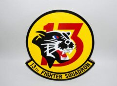 13th Fighter Squadron Panthers Plaque