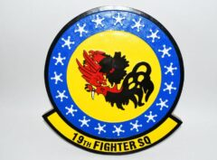 19th Fighter Squadron Fighting Gamecocks Plaque