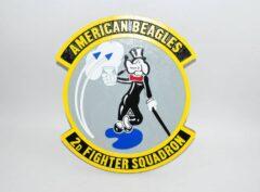 2d Fighter Squadron American Beagle Squadron Plaque