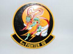 4th Fighter Squadron Fightin Fuujins Plaque