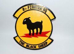 8th Fighter Squadron Black Sheep Plaque