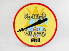 SSN-596 USS Barb Plaque