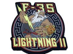 F-35 Lightning II PVC Shoulder Patch – Hook and Loop