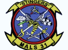 MALS 31 Stingers Patch – No Hook and Loop