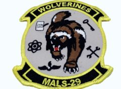 4 inch MALS 29 Wolverines Patch – No Hook and Loop