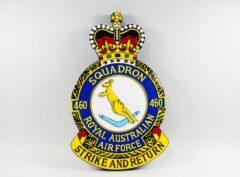 No. 460 Squadron RAAF Plaque w/ Queens Crown
