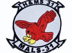 H & MS-31/ MALS 31 Patch - With Hook and Loop
