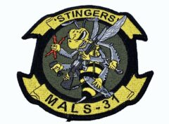 MALS 31 Stingers Patch –Plastic backing