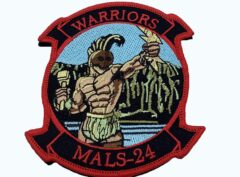 MALS-24 Warriors Patch – With Hook and Loop
