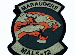 MALS-12 Marauders Black Patch – With Hook and Loop