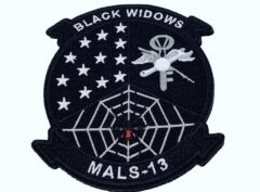 """4"""" MALS 13 Black Widows Patch – With Hook and Loop"""