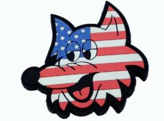 HMM/VMM-364 Purple Fox Swifty US Flag PVC Patch – With Hook and Loop