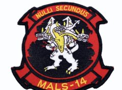 """4.5"""" MALS 14 Dragons Patch – No Hook and Loop"""
