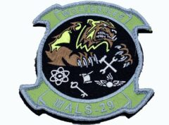 4 inch MALS-29 Wolverines Patch – With Hook and Loop