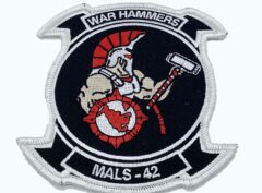 MALS-42 War Hammers Patch - Plastic Backing. Order now!