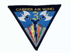 Carrier Air Wing CVW-3 Patch – No Hook and Loop