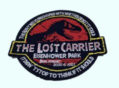 USS Eisenhower CNN-69 Lost Carrier 2021 Cruise Patch – No Hook and Loop