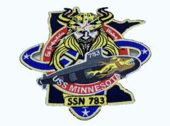 USS Minnesota (SSN-783) Patch – Plastic Backing