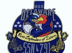 USS Delaware (SSN-791) Patch – Plastic Backing